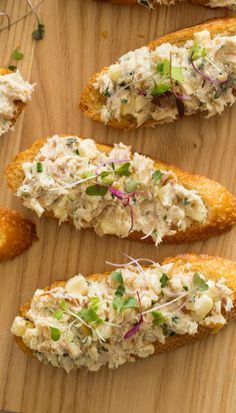 SMOKED TROUT, CORN & SHALLOT SALAD on TOAST [spoonforkbacon]