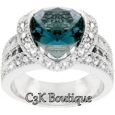 "Stunning 16CT ""Blue Velvet"" Ring Sz.5-6-7-8-9-10. Starting at $1 on Tophatter.com!"