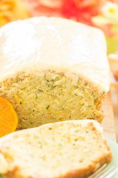 Orange Zucchini Bread with Orange Glaze - The Gold Lining Girl orange zucchini - Orange Things Orange Zucchini Bread Recipe, Zucchini Bread Recipes, Zucchini Cake, Zucchini Squash, Orange Glaze Recipes, Cake Recipes, Dessert Recipes, Desserts, Apple Cinnamon Bread