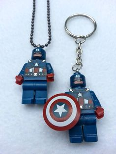 ticklesbytaylor - Tickles by Taylor - on Etsy Awesome Lego, Cool Lego, Lego Necklace, Lego Jewelry, Avengers Characters, Panda Love, Braided Bracelets, Girls Camp, Heart For Kids