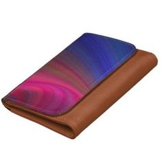 Sensuality Wallet $27.60 *** Abstract curved stripes in pink and blue - faux leather wallet