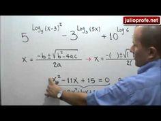 Ecuación con logaritmos en los exponentes: Julio Rios explica cómo resolver una ecuación, donde se tienen potencias con logaritmos en los exponentes.