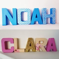 Nursery room letters name decoration boy girl twins