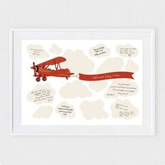 biplane boys baby shower guest book printable by idoityourself