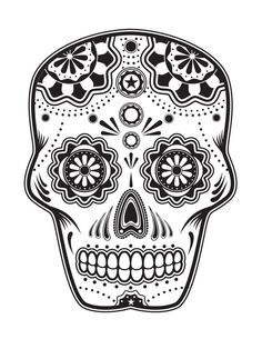 Day of the Dead, dia de los muertos, Sugar Skull, Coloring pages colouring adult detailed advanced printable Kleuren voor volwassenen coloriage pour adulte anti-stress kleurplaat voor volwassenen