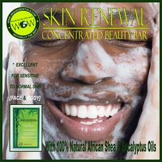 SKIN RENEWAL CONCENTRATED BEAUTY BAR. Naturally cleanse to a refreshed & renewed complexion. #soap #beauty #skin #skincare #acnefree #natural #eucalyptus #shea #vegetableingredients #skinfood #skinrenew #healthy #face #facecare #beautiful