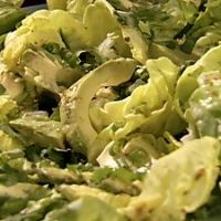 Pucks Avacado Salad with Lime Dressing