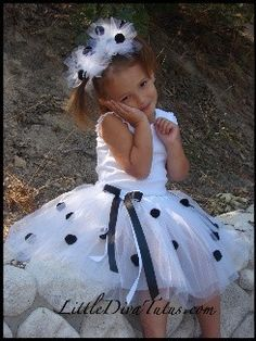 DALMATIAN TUTU with MATCHING ears dalmatian tutu dalmation costume photography props baby costumes halloween costumes..