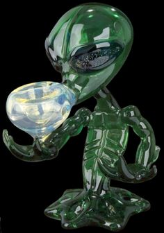 Alien with Dichroic Eyes Glass Pipe < Creature Glass Pipes < Glass Pipes < Pipes < Rollies.com