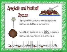spaghetti meatball spaces writing a letter