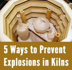 5 Ways to Prevent Explosions in Your Kiln elementary art education ceramics clay Pottery Kiln, Pottery Tools, Ceramic Pottery, Pottery Art, Pottery Ideas, Thrown Pottery, Pottery Wheel, Pottery Painting, Ceramic Techniques