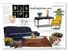 """onekingslane.com"" by signaturenails-dstanley ❤ liked on Polyvore featuring interior, interiors, interior design, home, home decor, interior decorating, NapaStyle, Mr & Mrs Howard, Aidan Gray and Azura"