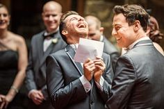 """'Paul slipped up in his vows and said """"I will laugh at you in death"""". It had all of us bending over laughing.' Image: Studio Impressions"""