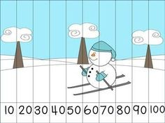 Winter Themed Skip Counting Puzzles. Here, students will practice counting by 10's to assemble the puzzle and reveal the winter picture!