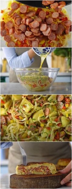 Tortilha de Batata com Linguiça #TORTILHADEBATATA #batata #massas