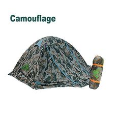 RioRand Double Layer 2 Person 4 Season Aluminum Rod Outdoor Camping Tent Topwind 2 Plus with Snow Skirt Camouflage *** You can get more details by clicking on the image.