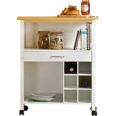 Buy HOME Kitchen Trolley with Wine Rack at Argos.co.uk - Your Online Shop for Kitchen trolleys.