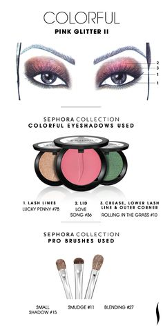 COLORFUL: Pink Glitter 2 HOW TO #sephoracollection #sephora #eyeshadow @Refinery29
