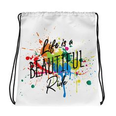 Life is a Beautiful Ride Kordelzugtasche – Feminisi Drawstring Backpack, Backpacks, Bags, Life, Beautiful, Fashion, Sporty Style, Nice Asses, Purses