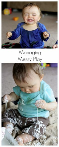 Managing Messy Play from Fun at Home with Kids