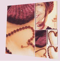 Herz Halskette und Mütze