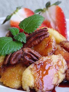 Polenta, Pretzel Bites, Sweet Recipes, French Toast, Bread, Cooking, Breakfast, Food, Syrup