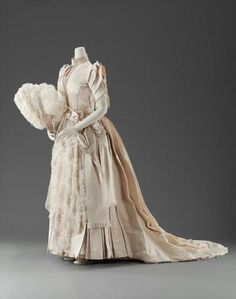Wedding dress, 1889, United States via MFA Boston