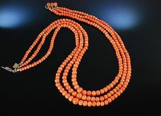 ANTIKE-GROSSE-LACHS-KORALLEN-KETTE-SARDEGNA-WALZGOLD-NEAPEL-1880-CORAL-NECKLACE