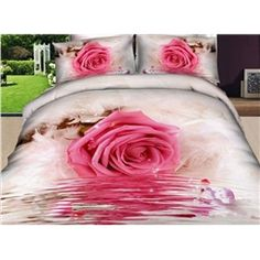 Cheap bedding set queen, Buy Quality bedding set children directly from China bedding set white Suppliers: hot sale high quality luxury rose flower bed sheet set bedclothes bedlinen duvet cover set bedding set Comforter Cover, Comforter Sets, Duvet Cover Sets, Rose Comforter, Bedroom Comforters, Cheap Bedding Sets, Queen Bedding Sets, Bed Sets, Cama Floral