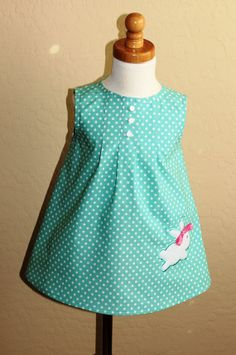 Ready to ship aqua Easter dress Easter dress special by CPAdesigns, $25.00