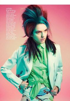 Bright-Haired Teen Shoots - An Amy Winehouse-Inspired Editorial from Teen Vogue March 2012 (GALLERY)