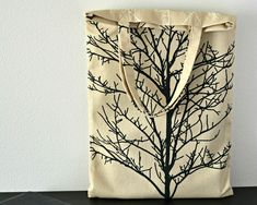 small durable beige canvas tote, zero waste reusable shopping bag, plastic free second hand tree fabric, upcycled thick cotton, eco friendly