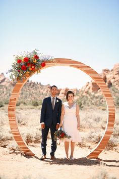 Circular Ceremony Backdrop