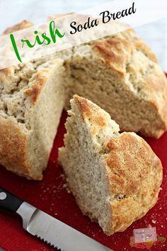 Irish Soda Bread Recipe - http://recipestomake.com/irish-soda-bread-recipe/