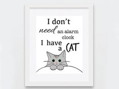 Funny Cat Art Print, I Have A Cat Digital Print, Cat Lovers Gift Idea, Quirky Home Decor - What more to say other than we just LOVE cool stuff!