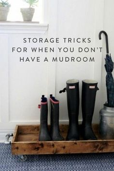 Storage Tricks for When You Don't Have a Mudroom via @PureWow