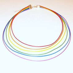 Rainbow Wire Jewelry -- Computer Cable Necklace