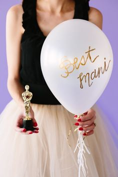 Oscar Party with balloon awards