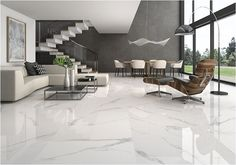 40 Stunning and Clean White Marble Floor Living Room Design - Salon Decor Clean Living Rooms, Living Room White, Living Room Colors, Living Room Designs, Floor Design, House Design, Marble Design Floor, Italian Marble Flooring, White Marble Flooring
