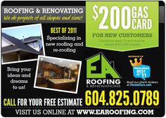 Roofing and Renovating -- We do projects of all shapes and sizes.    www.earoofing.com Conditioner, Bring It On, How To Apply, Shapes, Ads, Projects, February, Log Projects