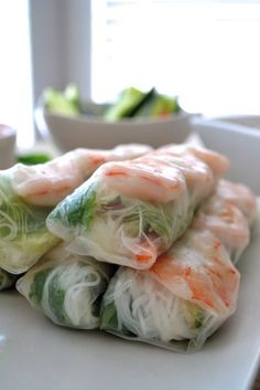 Vietnamese Spring Rolls- a simple recipe for an interactive dinner. We had SO mu. - ◊YUMMY love◊ - Vietnamese Spring Rolls- a simple recipe for an interactive dinner. We had SO much fun making these - Seafood Recipes, Appetizer Recipes, Chicken Recipes, Cooking Recipes, Italian Appetizers, Grilling Recipes, Healthy Snacks, Healthy Eating, Healthy Recipes