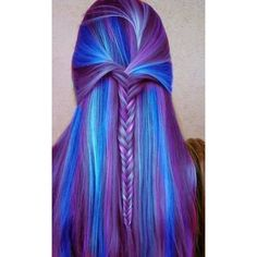 Dyed hair ❤ liked on Polyvore featuring accessories, hair accessories and purple hair accessories
