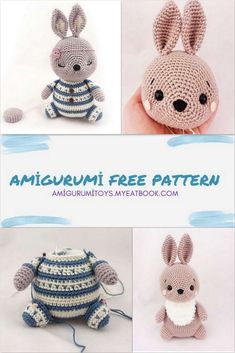 Sc Crochet, Crochet Rabbit, Crochet Round, Crochet For Kids, Newborn Crochet Patterns, Easter Crochet Patterns, Crochet Patterns Amigurumi, Stuffed Toys Patterns, Free Pattern