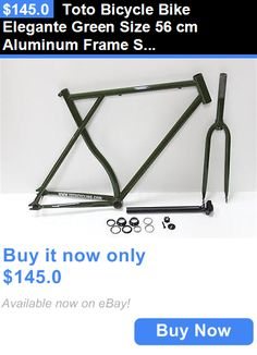 bicycle parts: Toto Bicycle Bike Elegante Green Size 56 Cm Aluminum Frame Set BUY IT NOW ONLY: $145.0