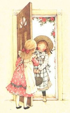 Holly Hobbie, greeting a friend at door Holly Hobbie, Toot & Puddle, Hobby Lobby Crafts, Hobbies To Try, Dibujos Cute, Hobby Horse, American Greetings, Clipart, Paper Dolls