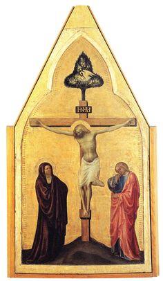Masolino da Panicale - Crocifissione - XV d.C. - Pinacoteca Vaticana, Città del Vaticano