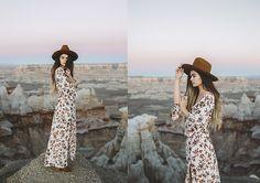 Alexandra Ford - - Sunrise Over the Canyon Alexandra Ford, Fashion Shoot, Boho Fashion, Summer Editorial, Fashion Lookbook, People Around The World, Boho Dress, Grand Canyon, Sunrise