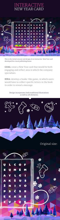 Interactive New Year Card on Behance