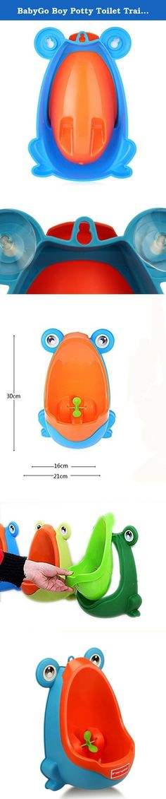 BabyGo Boy Potty Toilet Training Kids Frog Stand Vertical Urinal Boys Penico Pi Infant Toddler Wall Urinals (Blue). Materials: PA P. Suitable age: 8 years 6 months. Shape/pattern: Animal Packaging weight: 0.333 kg Product size (L x W x H): 29.00x20.70x15.00 cm / 11.42 x 8.15 x 5.91 inch package size (L x W h): 30.00x21.70x16.00 cm / 11.81 x 8.54 x 6.3 inch package Contents: 1 x Baby Urinal note: Urinal is fixed mainly on the sucker. old style yellow one without a top hook, dilivery randomly…