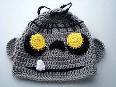 Crochet this spooky zombie hat for a child's first halloween. Crochet it in Vanna's Choice or make it less scary with bright bold colors of Modern Baby.